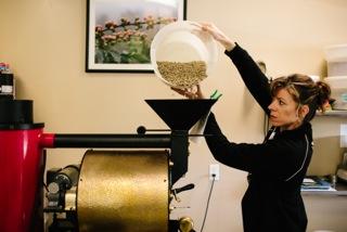 woman coffee roaster, coffee roaster, San Franciscan, SF6, good coffee in Ann Arbor, cool coffee roaster