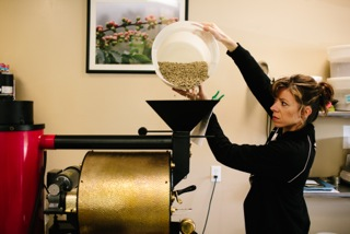 woman coffee roaster, coffee roaster, San Franciscan, SF6, good coffee in Ann Arbor, cool coffee roaster