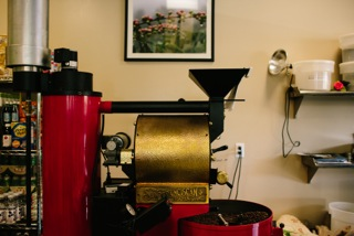 coffee roaster, San Franciscan, SF6, red coffee roaster