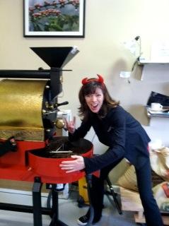 fun coffee roaster, Halloween, devil, scary, fun, coffee roaster, san franciscan coffee roaster, SF6