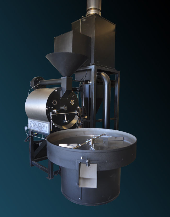 The San Franciscan Roaster Company's SF-75/35kg industrial coffee roaster