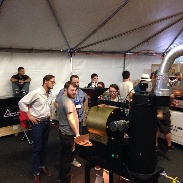 A San Franciscan Roaster SF-6 at the Roasters Guild, 2014